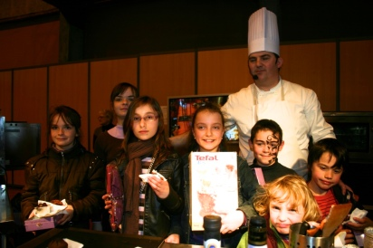 concours de cuisine enfants avec Christian Le Vagueresse